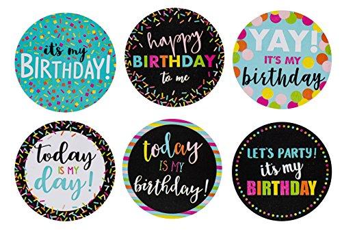 Happy Birthday to Me, rund, 504-teilig, mit 6 verschiedenen Motiven für Lehrer, Klassenzimmer, Büros, Geburtstagsfeier, 5,1 cm Durchmesser ()