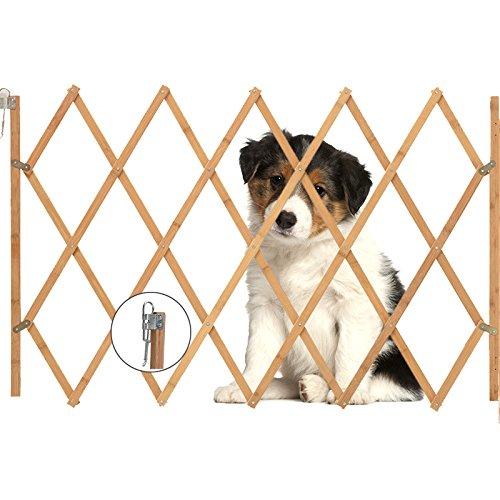 *Allright Hundeabsperrgitter Hundegitter Hundegatter Schutzgitter Treppenschutzgitter Holz aufziehbar Befestigungsmaterial 85 x 108 cm*