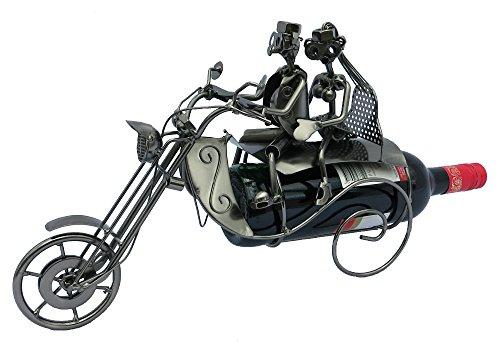 Metall Flaschenhalter Paar auf Motorrad 35 x 24cm