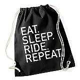 Certified Freak Eat Sleep Ride Repeat Gymsack Black
