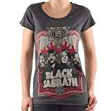 Amplified - Black Sabbath Damen T-Shirt - Crew (Grau) (S-XL) (Medium)