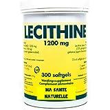 Lécithine (13 % de phosphatidylcholine)(NON-OGM)- 1200 mg - 300 softgels