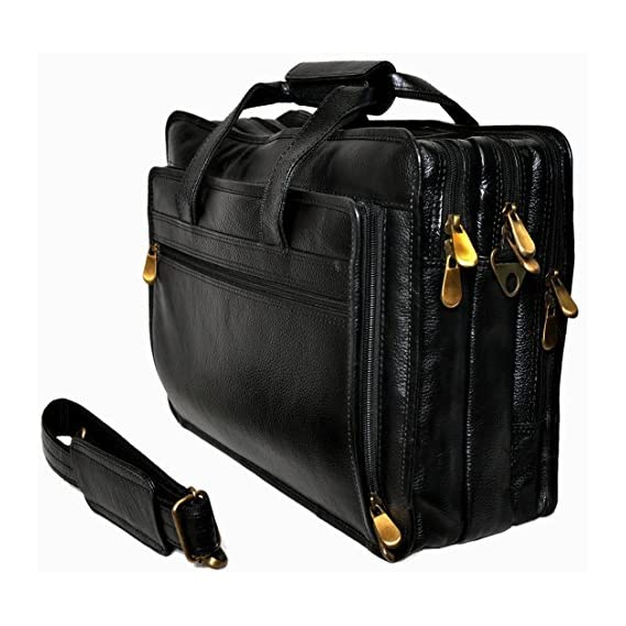 Bag Jack Leather Black Laptop Messenger Bag