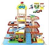 Drei Parkhaus Holz Inertia Connect Bunte Blöcke Frühkindliche Bildung Kinder pädagogisches Spielzeug Set