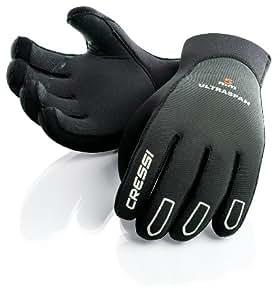Cressi Ultraspan Gants de plongée en néoprène  Noir/Gris 5 mm d'épaisseur Taille - S