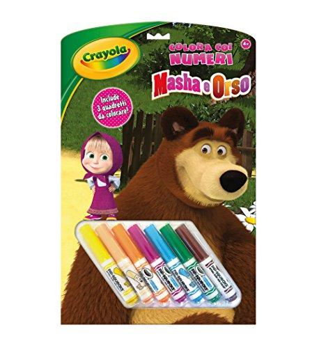 Crayola 7477?colorie mit den Zahlen Motiv Mascha und der Bär, mehrfarbig (Englischer Spr Preisvergleich