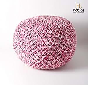 Round Pouff - Pink - Habios