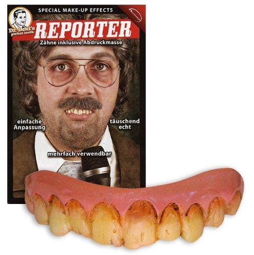 Halloween Karneval Party Kostüm Der Reporter künstliche Zähne (Alte Reporter Kostüm)