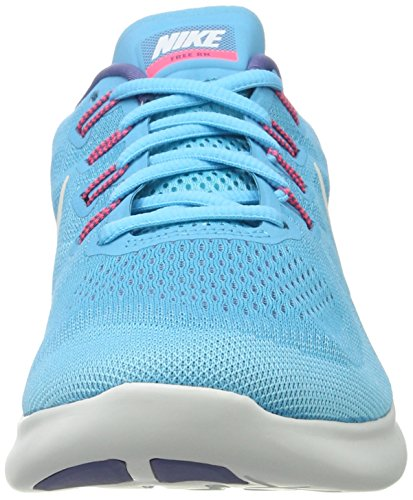 Nike Free Rn 2 Scarpe Sportive da Donna Multicolore (Chlorine Blue/off White-polarized Blue)