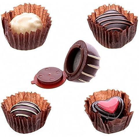 Lipgloss lucidalabbra a forma di cioccolatino