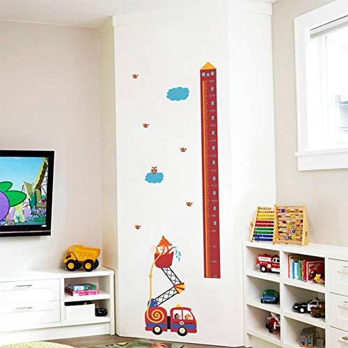 TIVOPA Tiere Feuer Rettungswagen Höhe Maßnahme Wandaufkleber Für Kinderzimmer Wachstum Chart Hause Tür Decor PVC Wandbild Wandkunst Aufkleber - Tür Chart Wachstum