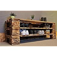 Wandregal Palettenmöbel Regal Sideboard Konsole Geflammt Rustikal Shabby Vintage