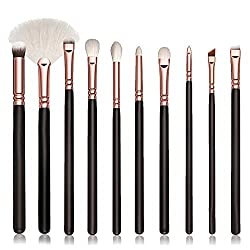 Vovotrade 10PC / Set Professionelle make up pinsel BB Cream Puderpinsel Foundation Bürste Zahnbürste Braue Foundation Eyeliner Lip Oval Bürsten
