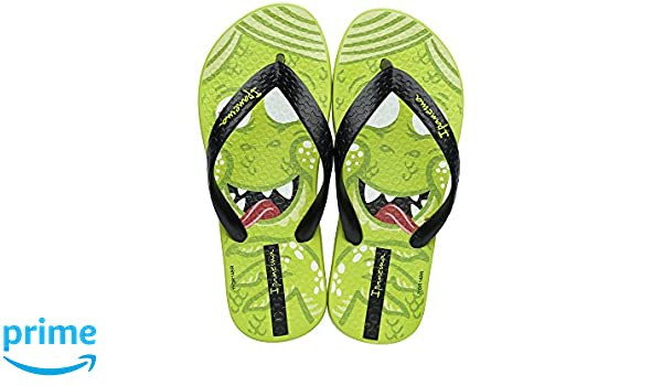 5ab1709b8 Ipanema Monster Kids Flip Flops   Sandals - Green Black-Green-8   Amazon.co.uk  Shoes   Bags
