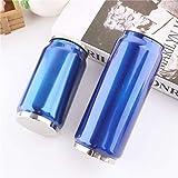 YZGS Acero inoxidable creativo,sin costura,relleno de coca-cola,tubos,latas,termostatos. Termostato general-350ml pequeño/Azul