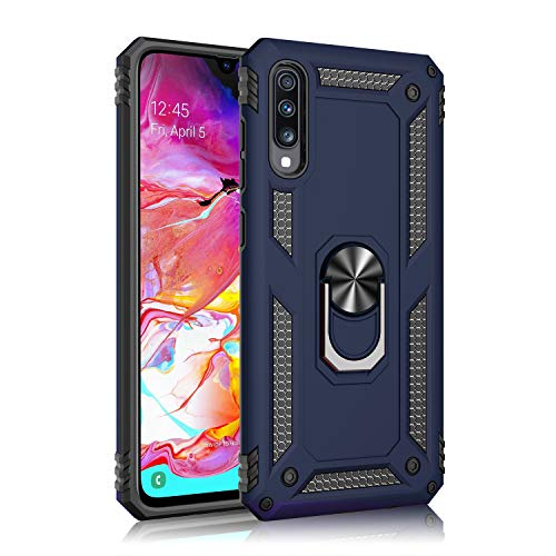 Wubaouk Samsung Galaxy A70 Hülle with Ring Holder, Rotating Kickstand Stand for Car Magnetic Mount Slim Soft Shockproof Silicone Gel TPU Phone Cover for Samsung Galaxy A70 Slim Mount Speakers