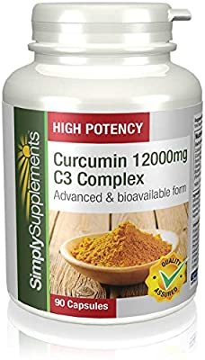 SimplySupplements Curcumin 12000mg C3 Complex 90 Capsules from Simply Supplements