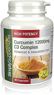 SimplySupplements Curcumin 12000mg C3 Complex 90 Capsules