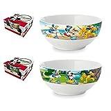 Mickey Mouse–Schüssel Bowl Ceramica Frühstück in Geschenk Box (Suncity mma102549)