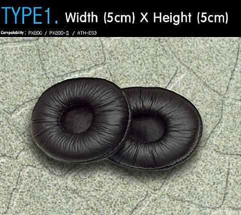 Kopfhörer Ohrkissen, Ohrpolster Ersatz für Kopfhörer, kompatibel mit Sennheiser PX200, Audio-Technica ATH-ES3, etc. (Packaged 1 Paar (2 Stück)) Typ 1 B