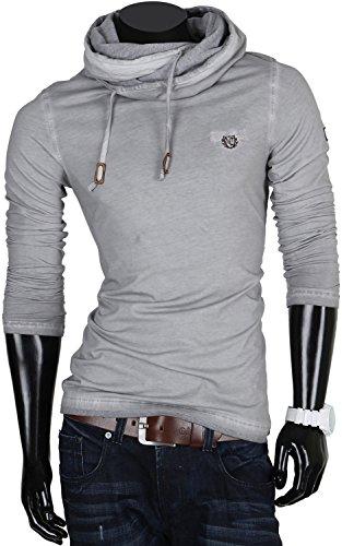 TAZZIO pull sweat-shirt pour homme en plusieurs tailles et couleurs Gris - Gris