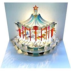 Forever Handmade Pop Up Karte zum Geburtstag - edel und elegant mit verblüffender Wirkung beim Öffnen, da im Lasercut-Verfahren aus einem Blatt hochwertigen Kartons hergestellt. Designed und produziert von Ge Feng im walisischen Ross-on-Wye. GP096