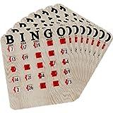 Finger-Slide Bingo Shutter Card - Woodgrain (100 ct) by Regal Games
