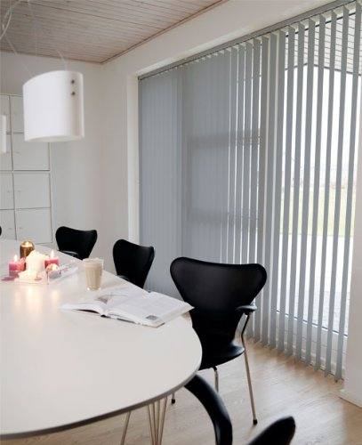 Lamellenvorhang / Vertikalanlage LINE ~ Farbe: grau ~ (BxH): 240x250 cm ~ Vertikaljalousie / Vertikalanlage ~ Lamellenbreite: 89mm