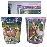 Horses Dreams Pferde Papierkorb Pferd Mülleimer Blechmülleimer Abfalleimer