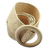 Bloomma Cinturón para Mujer, Cinturón Trenzado Cinturón Tejido Tejido Elástico Elástico Cinturón Vestido Decoración Estilo Boho Accesorios para Vestidos Grandes Y Pantalones De Camisa