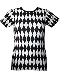 Insanity - T-shirt - Manches Courtes - Femme Noir Schwarz   Weiß 49a24dc15c1a