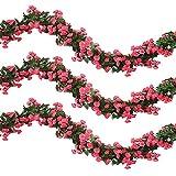 Veryhome 2 Pezzi 69 Heads 5.7FT Artificiale Rose Vine Silk Fiori Finti Ghirlanda Pianta Edera Floreale Decorazioni per La Casa Matrimonio Arrangiamento Party Garden Décor Fucsia
