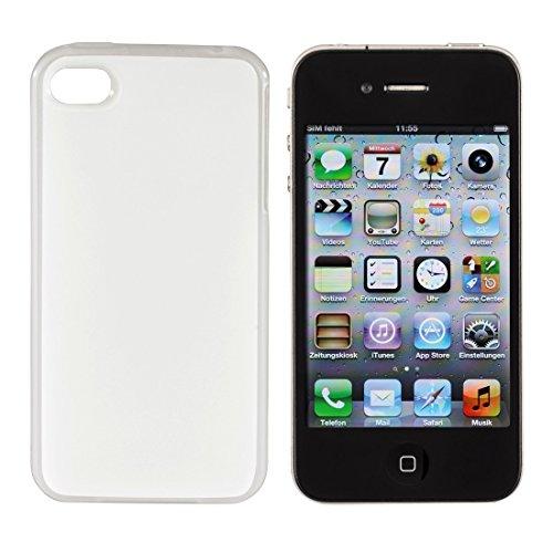 Hama Schutzhülle Cover für Apple iPhone 4/4s, gummierte griffige Oberfläche schwarz transparent