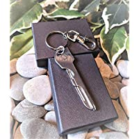 Handmade Functioning Multi-tool Keyring. Father Gift. Holiday Travel. Can be personalised. Supplied in Gift Pouch