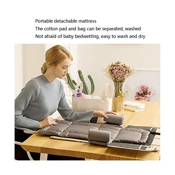 YANGGUANGBAOBEI Baby Lounger,Infant Toddler Cradle Multifunction Storage Bag, Nursery Travel Folding Baby Bed Bag YANGGUANGBAOBEI 1. Stylish and functional.Moms can have it all - a portable bassinet,a convenient portable changing station, a bag for all of baby's essentials, and chic, effortless style every day.It is the diaper bag and changing station rolled into one stylish tote 2.Moms no longer have to choose the ugly diaper bags,diaper bags can also be stylish,chic.The tote also has expention button and stroller straps.Waterproof leather and 100% cotton changing pad. 3. Roomy insert organizer.The cotton 100% Insert organizer is designed with optimal storage space for all your baby essentials,Big capacity as a diaper bag.It is also with 2 hanging bottons can be easily hong to stroller or baby bed. 5
