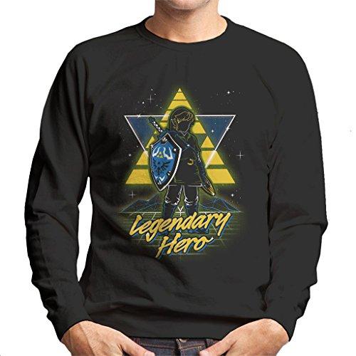 51da13e23 Retro Legendary Hero Legend Of Zelda Men's Sweatshirt