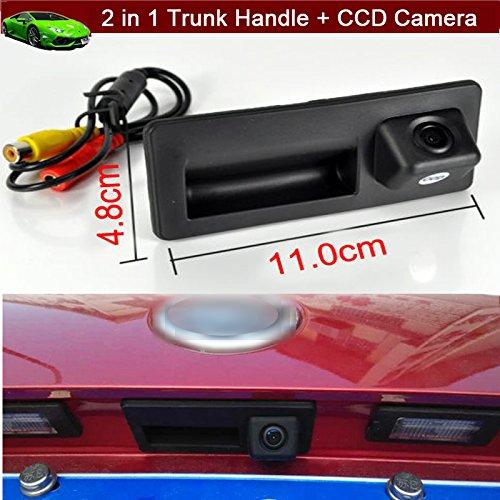 2in 1maniglia bagagliaio di ricambio + telecamera posteriore auto parcheggio inversione veicolo telecamera 170gradi impermeabile Custom Fit per Volkswagen VW Tiguan 201220132014201520162017(dimensioni: 11cm x 5cm)
