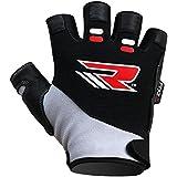 RDX Amara Cuero Hombre Gym guantes de musculación de entrenamiento Gloves gimnasia Halterofilia ejercicio Fitness