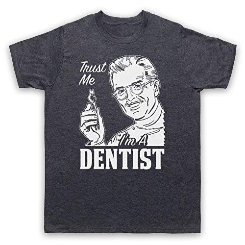 Trust Me I'm A Dentist Funny Work Slogan Herren T-Shirt Jahrgang Schiefer