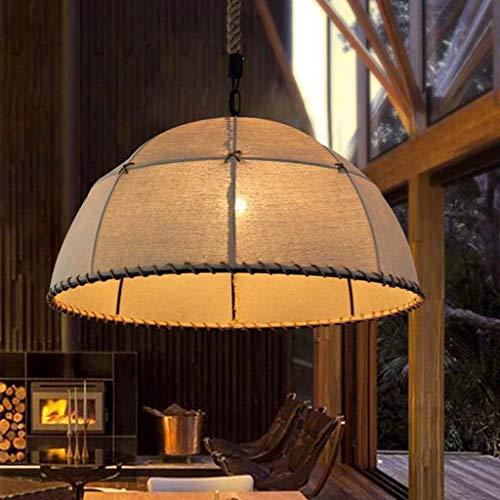 Xgaw Europäische Eisen Kunst Leinen Seil Kronleuchter E27 Kreative Retro Korridor Wohnzimmer Droplight Tuch Kunst Lampenschirm Pendent Lampe Fit for Restaurant Home Cafe (Größe : S) -