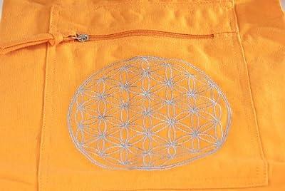 Berk YO-15-OR Meditations-Zubehör - Yoga Tasche mit Blume von Lebens, orange