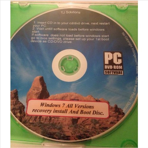 Windows 7 Installation, Repair Restore Recovery Boot Disc all versions INCLUDES FREE PC DRIVERS CD