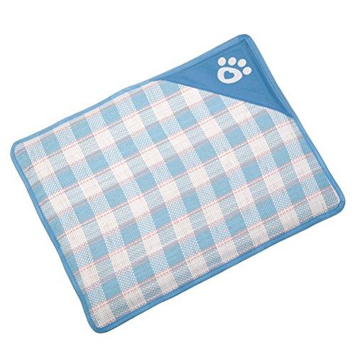 Cupcinu Haustiermatratze Hund Decke Nest Bettdecken Hundehütte Matten Katzenmatte Kissen Pet Pads Gute Luftdurchlässigkeit und waschbar Size 70 * 52 * 1.5cm (Azul)