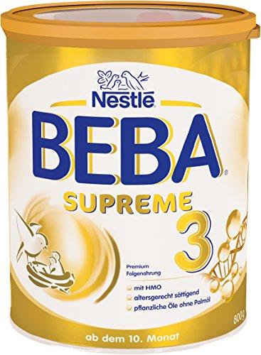 Nestlé BEBA SUPREME 3 Folgenahrung: ab dem 10. Monat, Pulver, mit hydrolisiertem Eiweiß, im Anschluss an das Stillen, 1er Pack (1 x 800g)