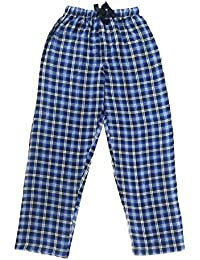 Twist Men's Blue And Navy And White Checked Cotton Pyjama Sleepwear Night Wear With Contrast & Free Shipping