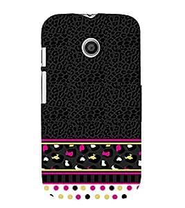Women's Love Pattern 3D Hard Polycarbonate Designer Back Case Cover for Motorola Moto E XT1021 :: Motorola Moto E (1st Gen)