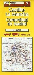 07: Castilla-la Mancha, Comunidad De Madrid Road Map 1:250, 000