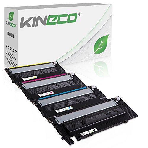 4 Kineco XL Toner kompatibel zu Samsung CLT-P404C /ELS für Samsung Xpress SL-C480FW/TEG SL-C480FN/TEG Farblaser-Multifunktionsgerät SL-C480W C480 Xpress SL-C430 C430W