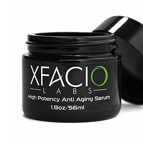Xfacio Labs LLC Anti-Aging-Serum. Bio natürliche Falten-Creme mit Retinol, Peptide, Aminosäuren, Pflanzen Stammzellen, Matrixyl, Hyaluronsäure. Tag/Nacht, Leckereien Gesicht Augen oder Hals