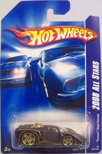 Hot Wheels 2008-066 All Stars Black Tooned Enzo Ferrari 1:64 Scale